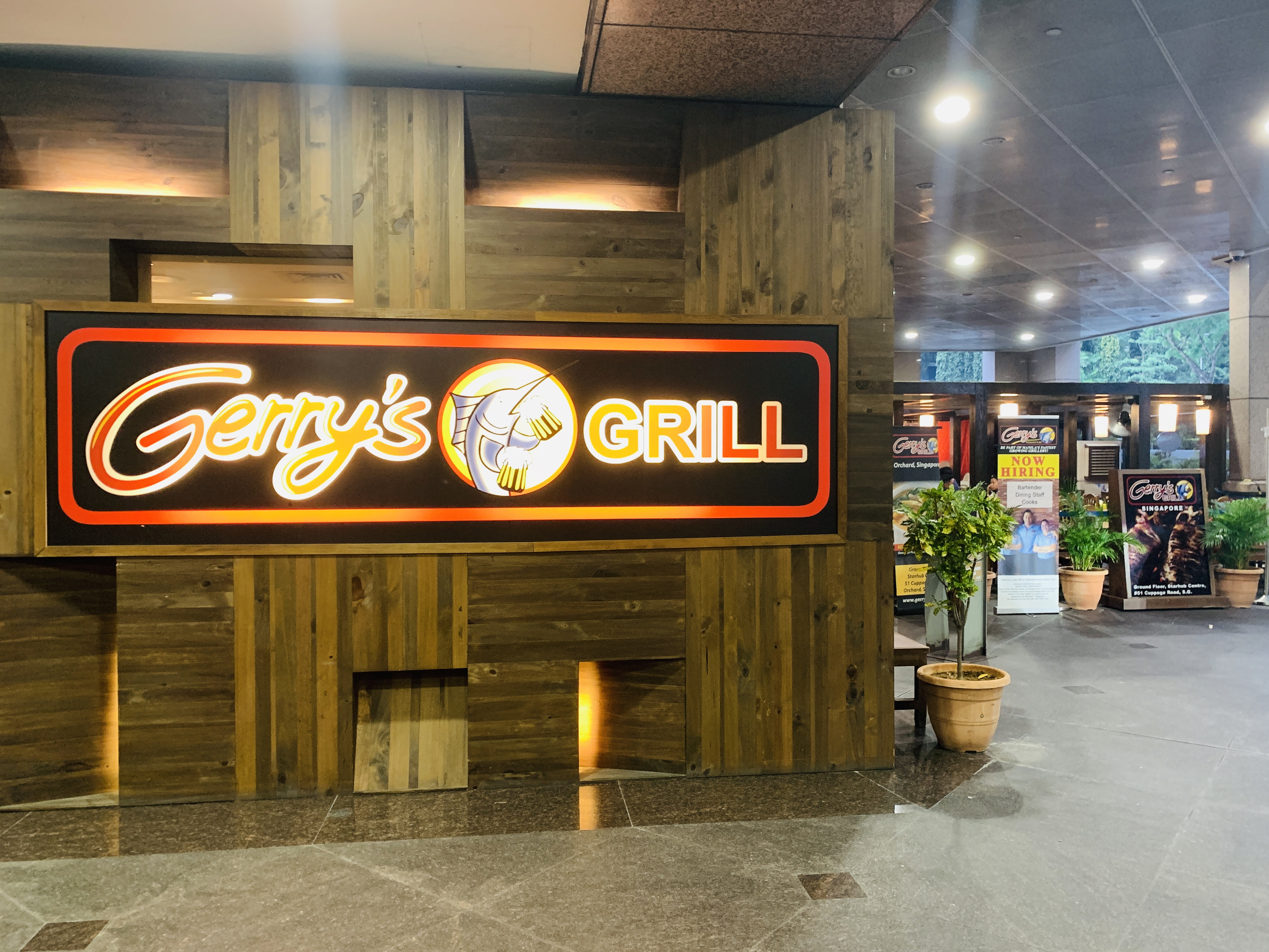 Gerrys Grill - Restaurant Front