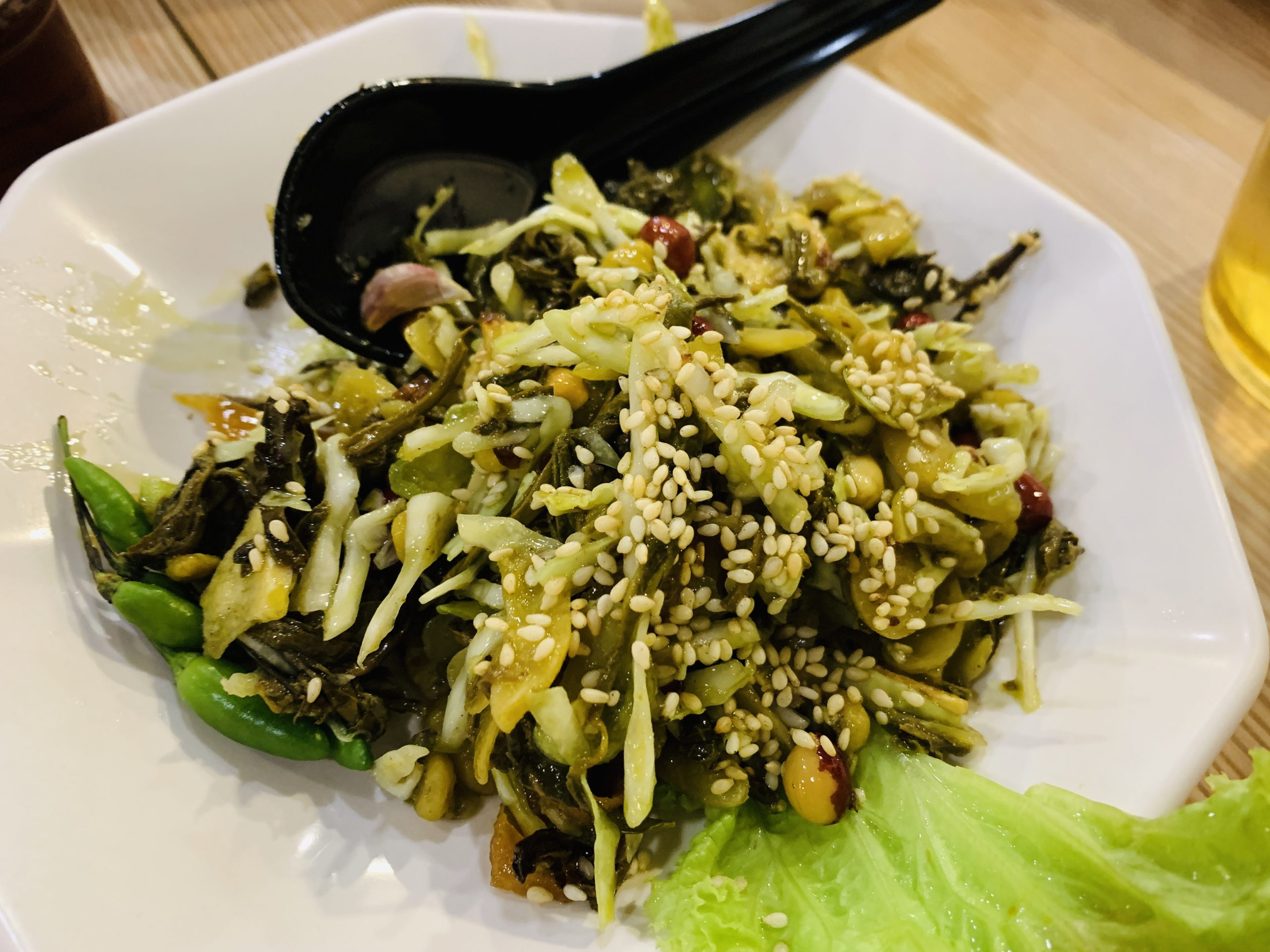 Inle Myanmar Restaurant - Piclked Tea Leave Salad