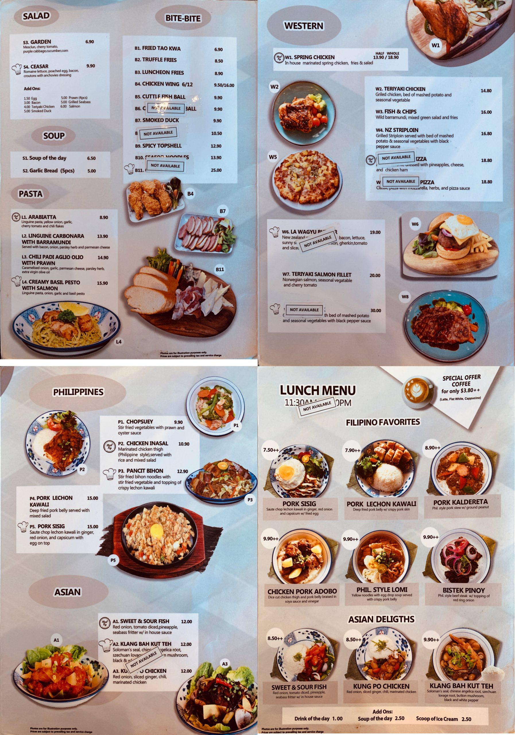 La Cafe & Bar by Masterpiece - Menu