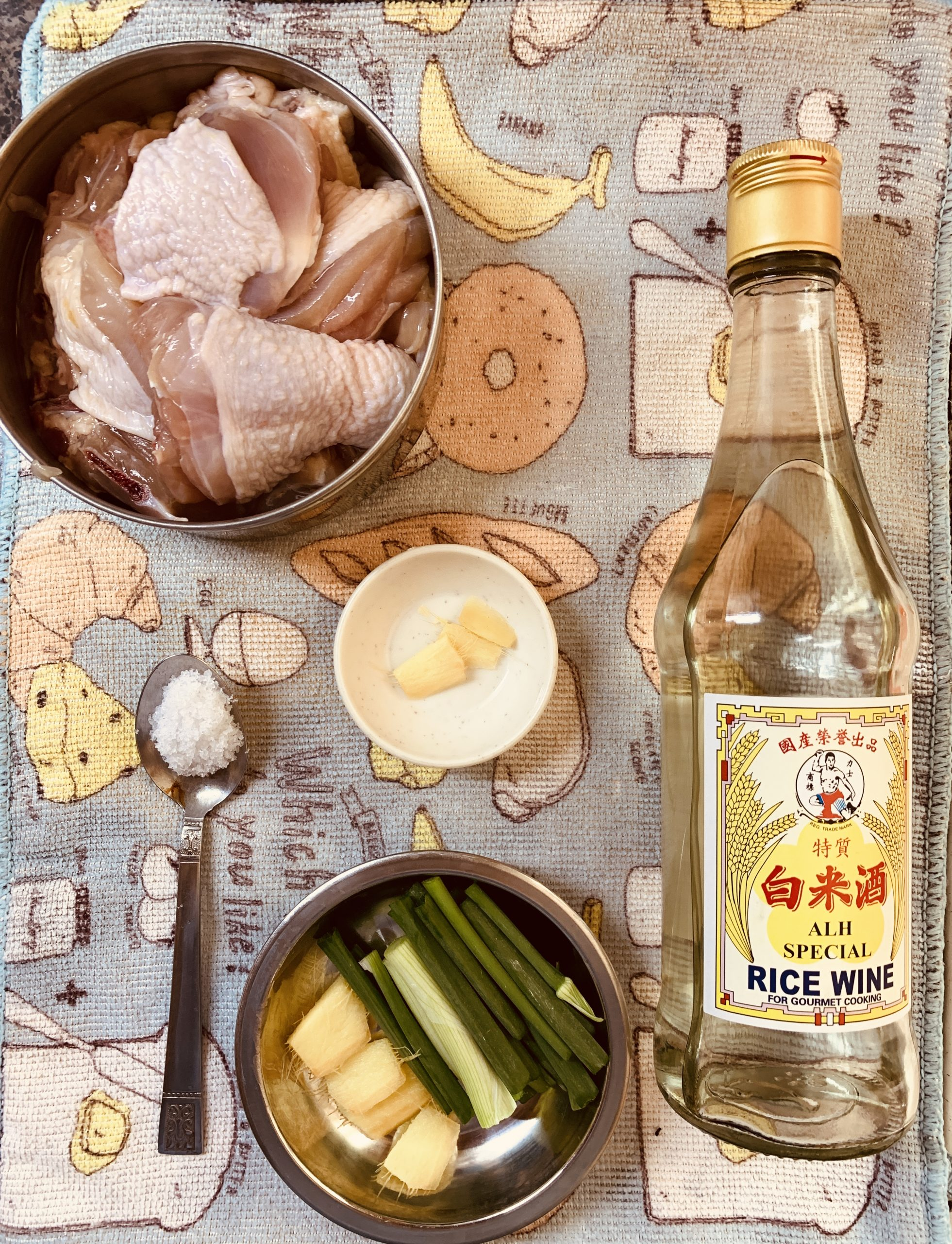 Steamed Chicken Soup - Ingredients