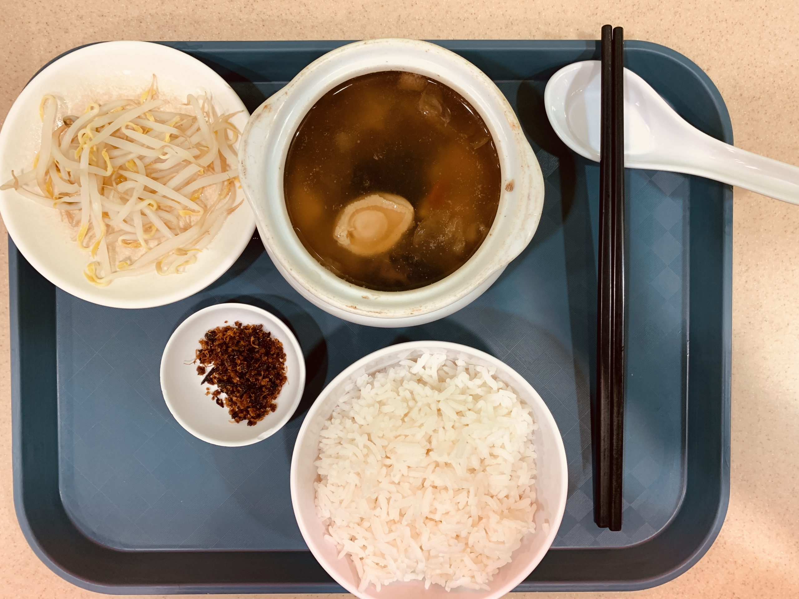 Rabbit Brand Seafood Delicacies - Set A Buddha Jump Over The Wall + Bean Sprout + Rice + Chinese Tea