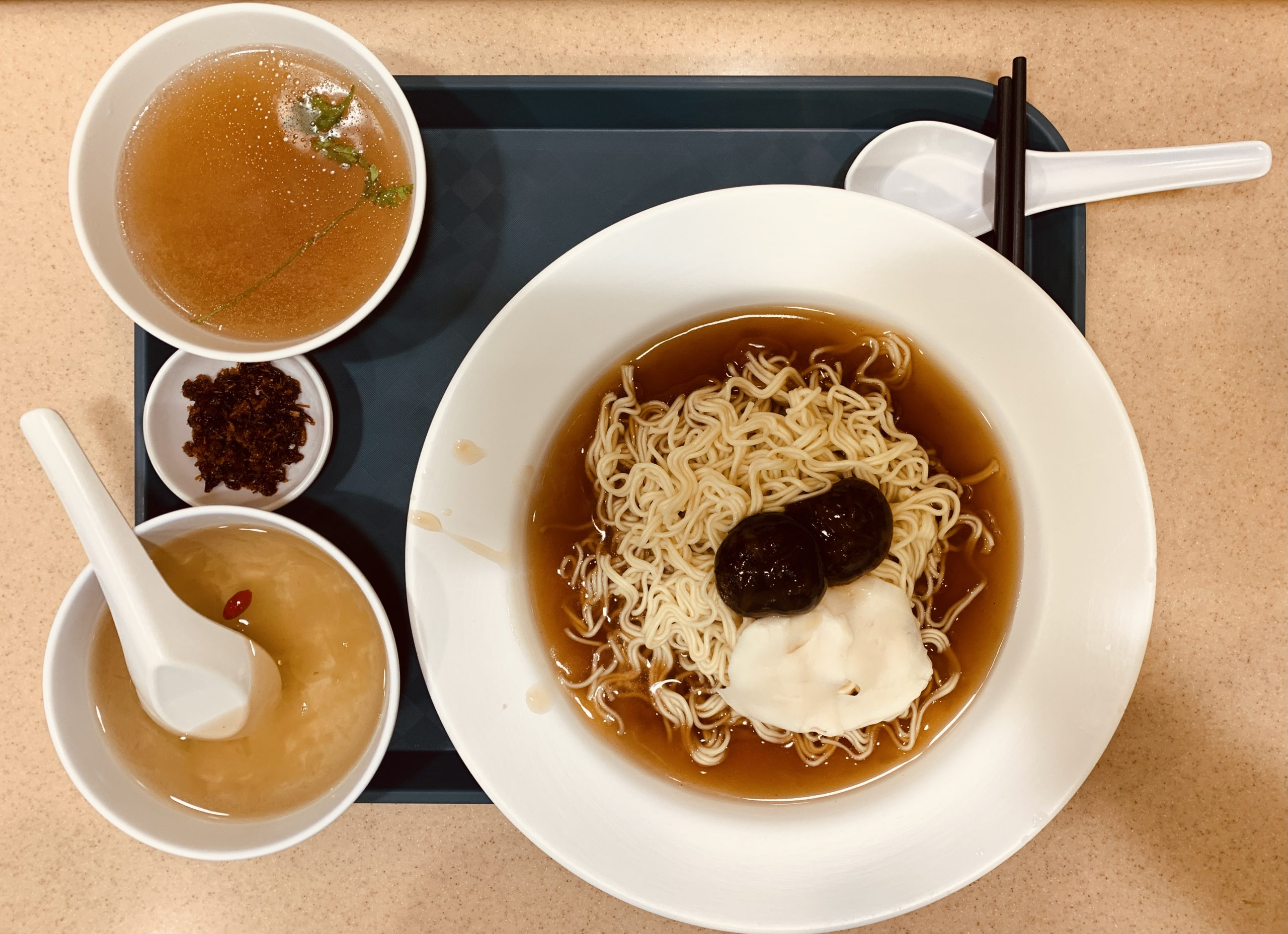 Rabbit Brand Seafood Delicacies - Set O - Australia Abalone Noodle + Sliced King Top Shell + Chinese Tea