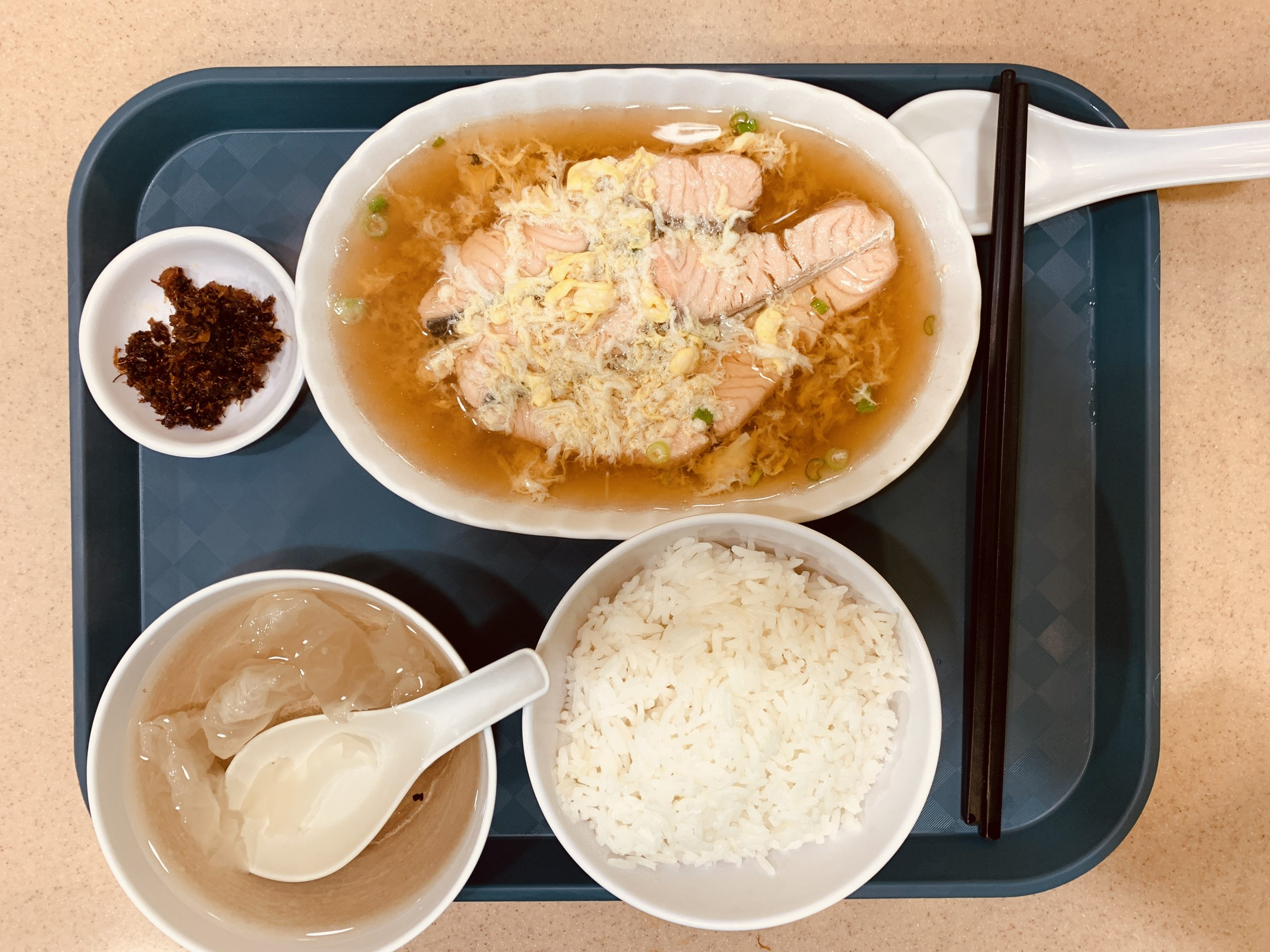 Rabbit Brand Seafood Delicacies - Set W Norway Salmon Fish with Japanese Stock (served with rice)