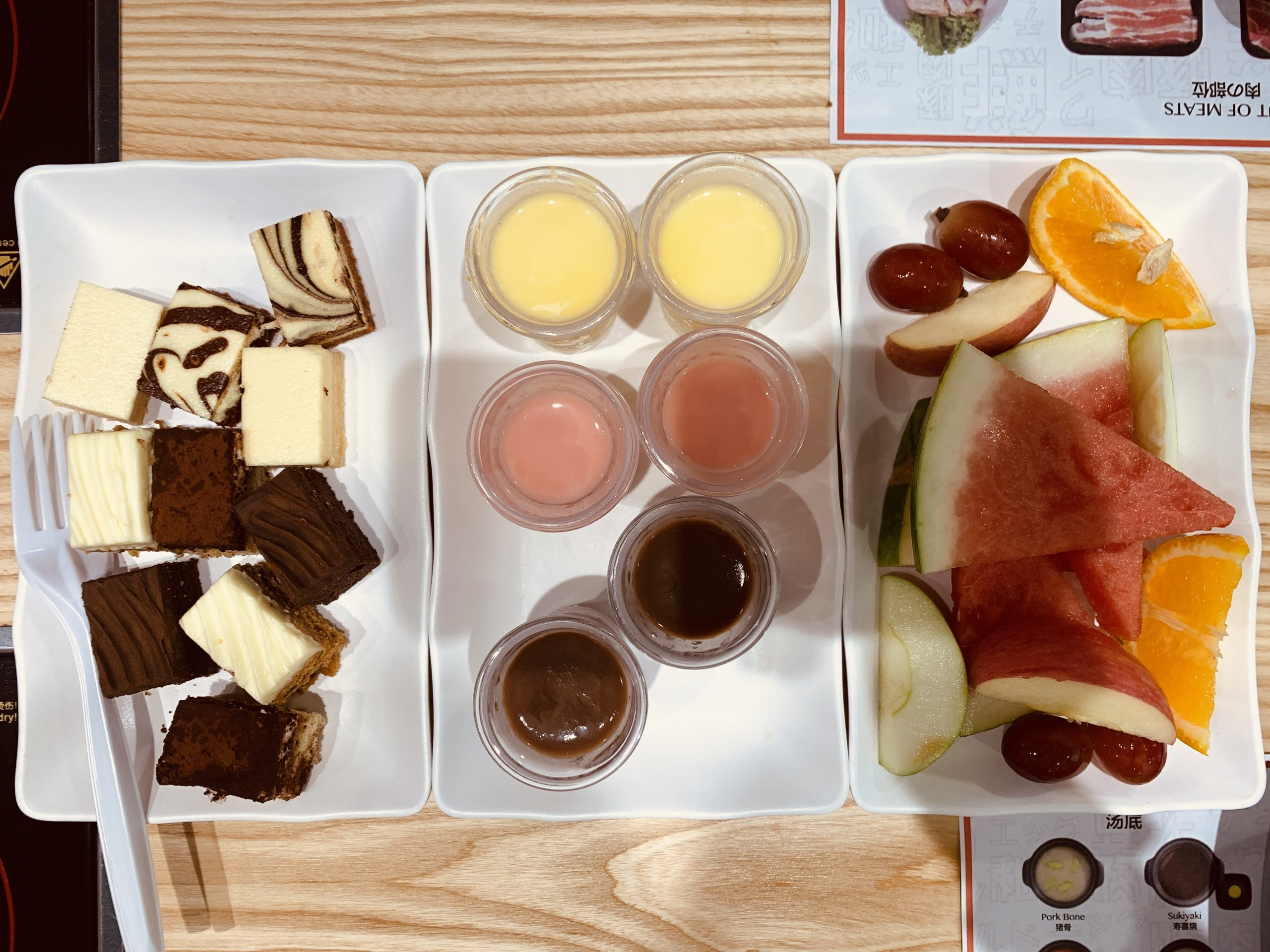 Wagyu More - Desserts and Fruits Top View