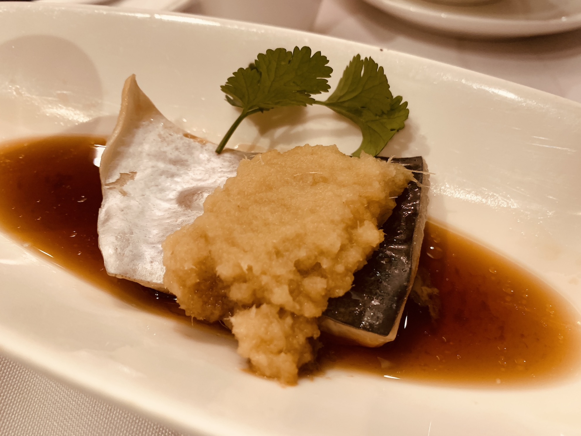 Peach Garden (Chinatown Point) - Steamed Fillet of Pa Ting Fish with Minced Ginger in Superior Soya Sauce