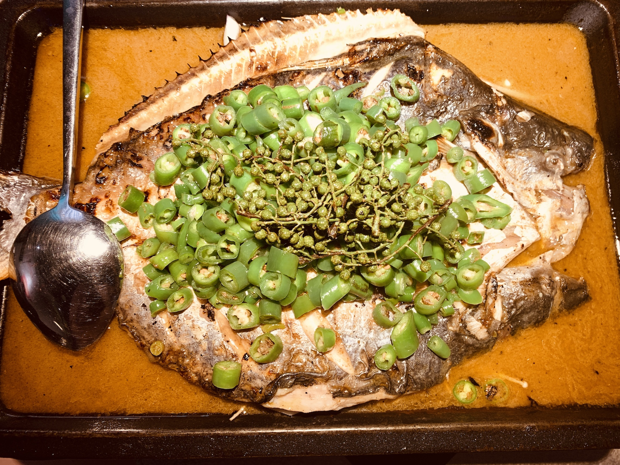 Tan Yu - Grilled Fish with Fresh Green Pepper 1