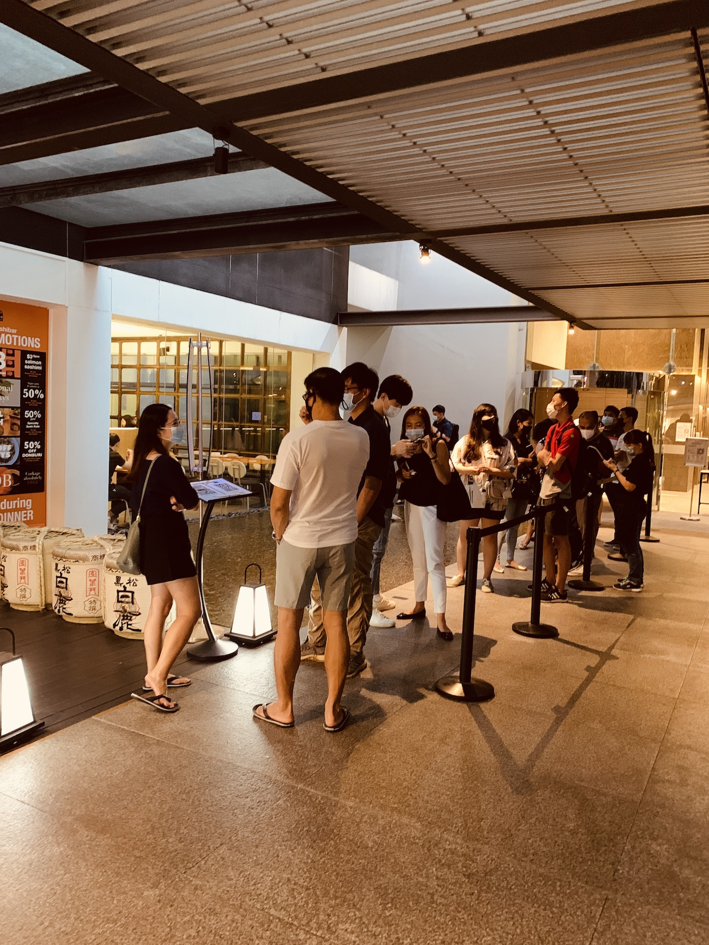 Standing Sushi Bar - The Queue